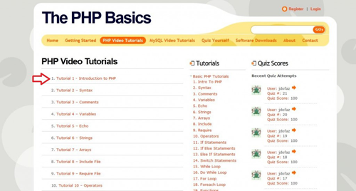 PHP The Basics
