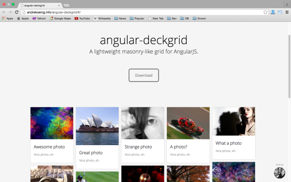 Angular Deckgrid