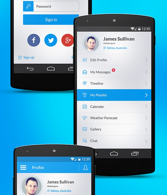 Otrion – Android L UI Kit