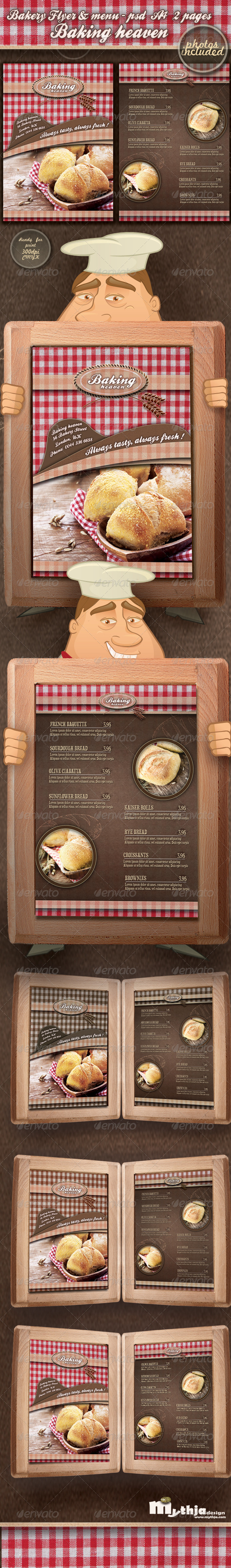 Bakery Flyer & Menu Template (Photos Included)