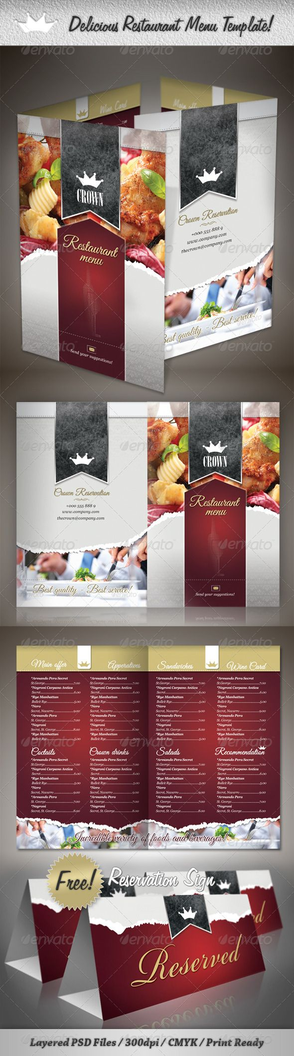 tri fold restaurant menu templates thevillas co