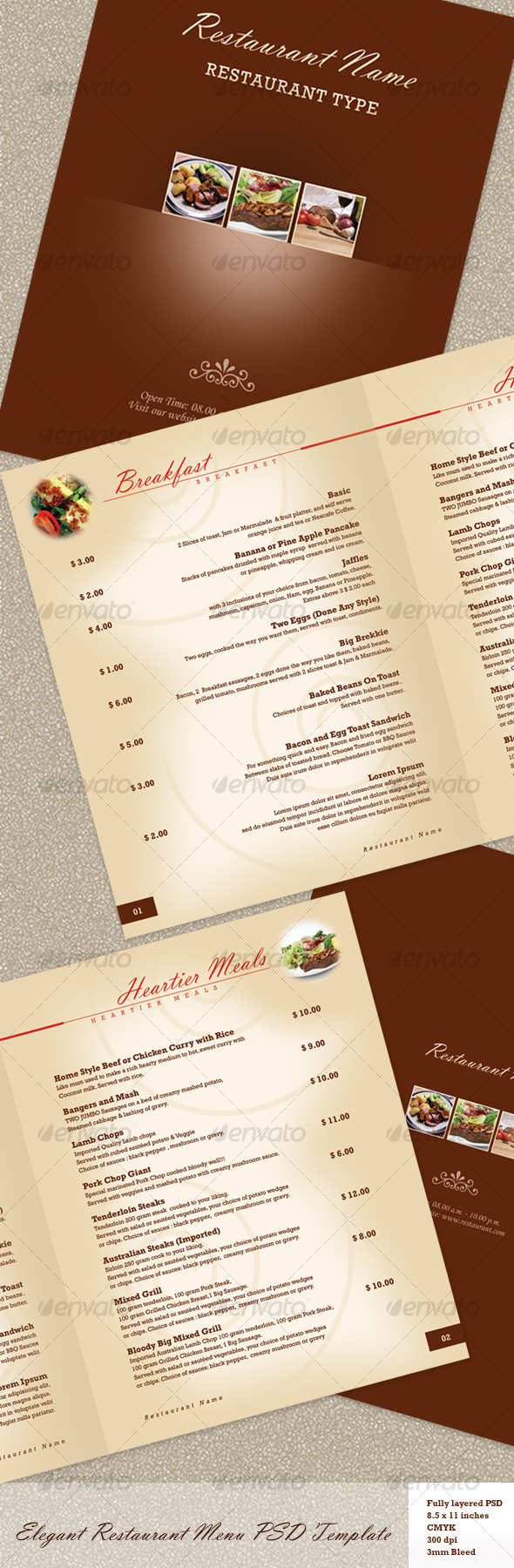 60 premium restaurant menu templates dzineflip for Restaurant menu psd