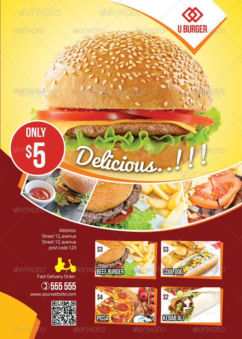 Flyer Fast Food Psd Free