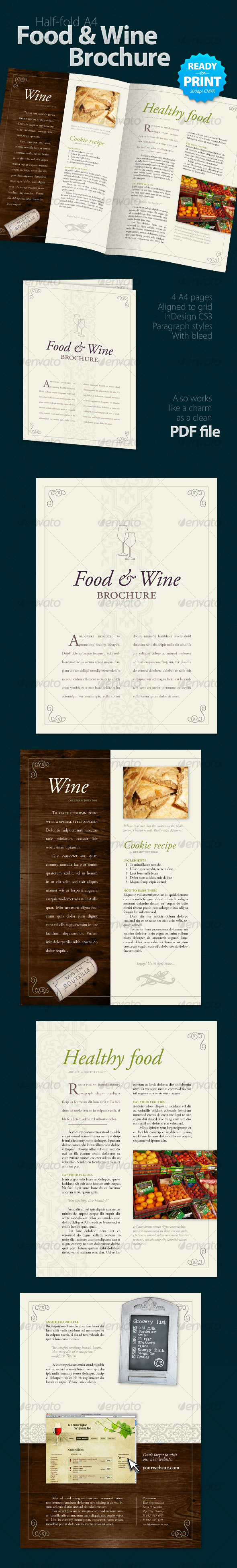 Food & Wine Brochure (4 Pages)