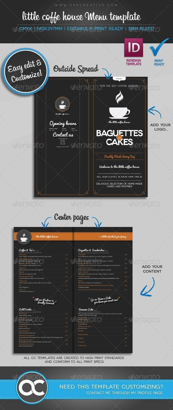 Little Coffee House Menu Template  Catering Menu Template Free