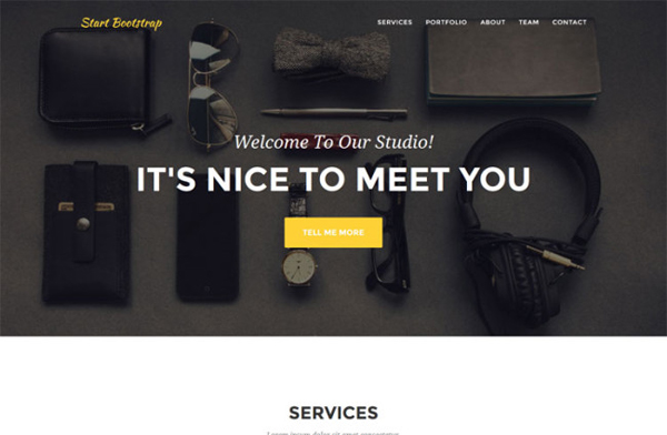 Agency – OnePage Bootstrap Business Template