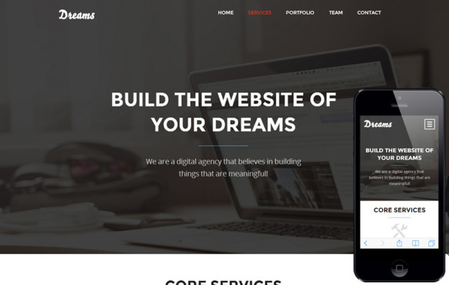 Dreams – fresh, flat and professional theme