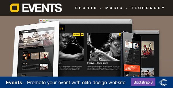 Events Music - Sport -Techno HTML5-CSS3