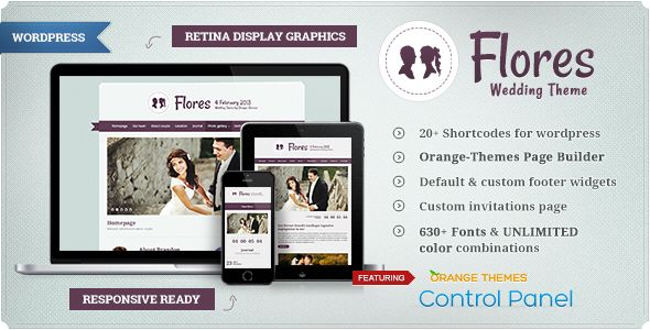 Flores - Elegant WordPress Wedding Theme