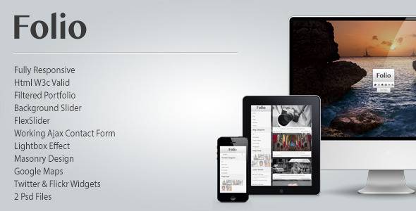 Folio - Responsive Photographers Facebook Template
