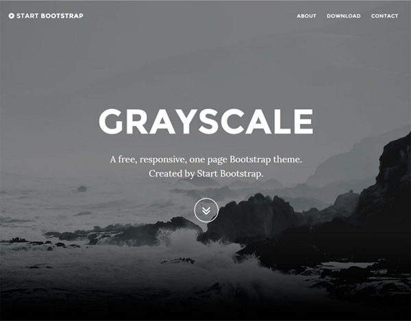 GrayScale – Bootstrap Template