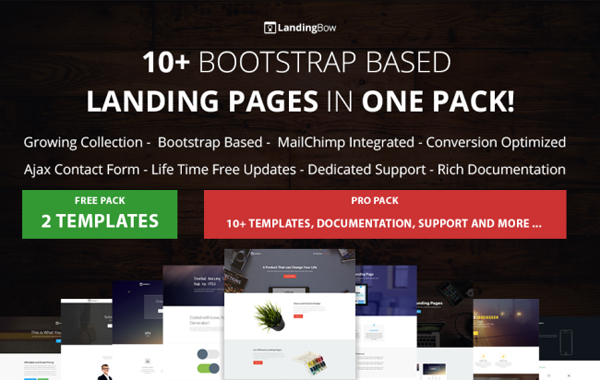 LandingBow – Bootstrap Based Landing Page Pack