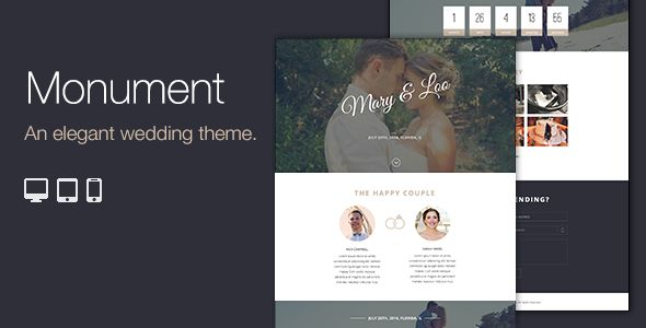 Monument - Responsive WordPress Wedding Theme