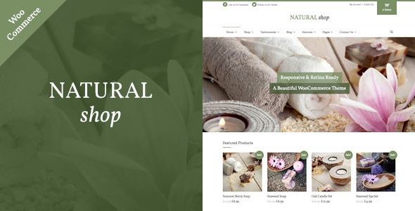 Natural Shop – Responsive WooCommerce Theme
