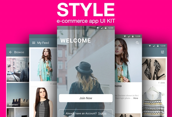STYLE - Free E-Commerce App UI Kit