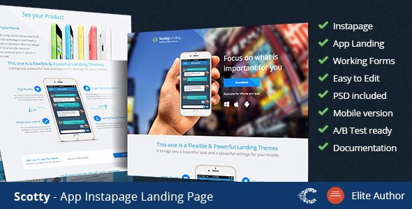 Scotty - Instapage App Landing Page