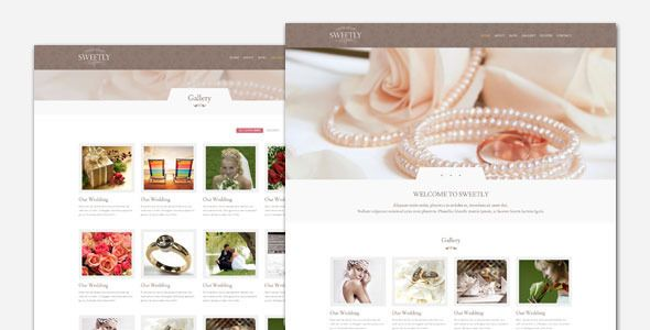 Sweetly - Wedding WordPress Theme