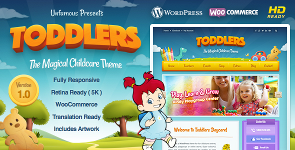 Toddlers – Child Care & Playgroup WordPress Theme