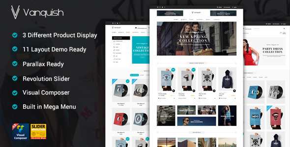 Vanquish – Multi Product Display eCommerce Theme