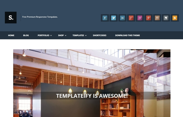 Sentify Responsive Blogger Template