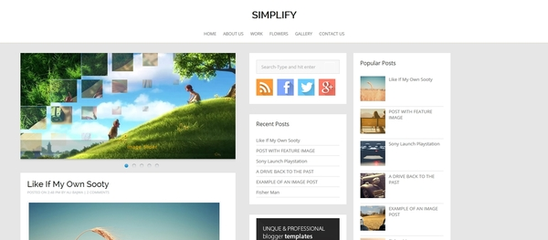 Simplify Blogger Template
