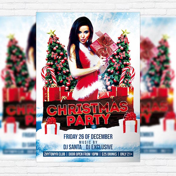 Christmas Party – Free Club and Party Flyer PSD Template
