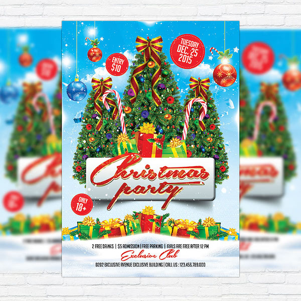 Christmas Party – Free Club and Party Flyer PSD