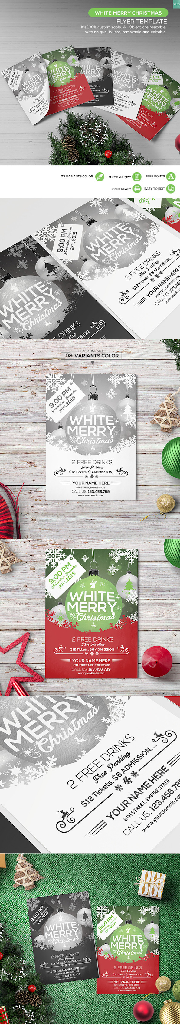 25 best free christmas flyer templates dzineflip