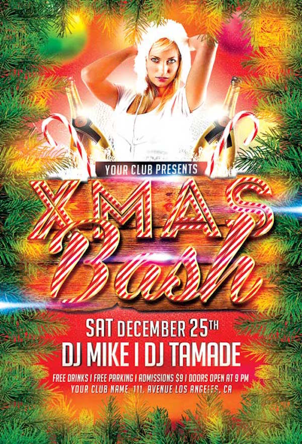 Free Xmas Bash Flyer Template
