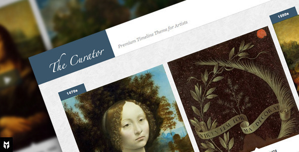 The Curator - Premier WP Timeline Theme for Artists