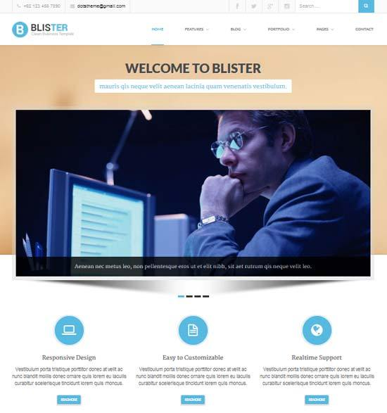 22 free premium business website templates dzineflip blister clean business site template flashek