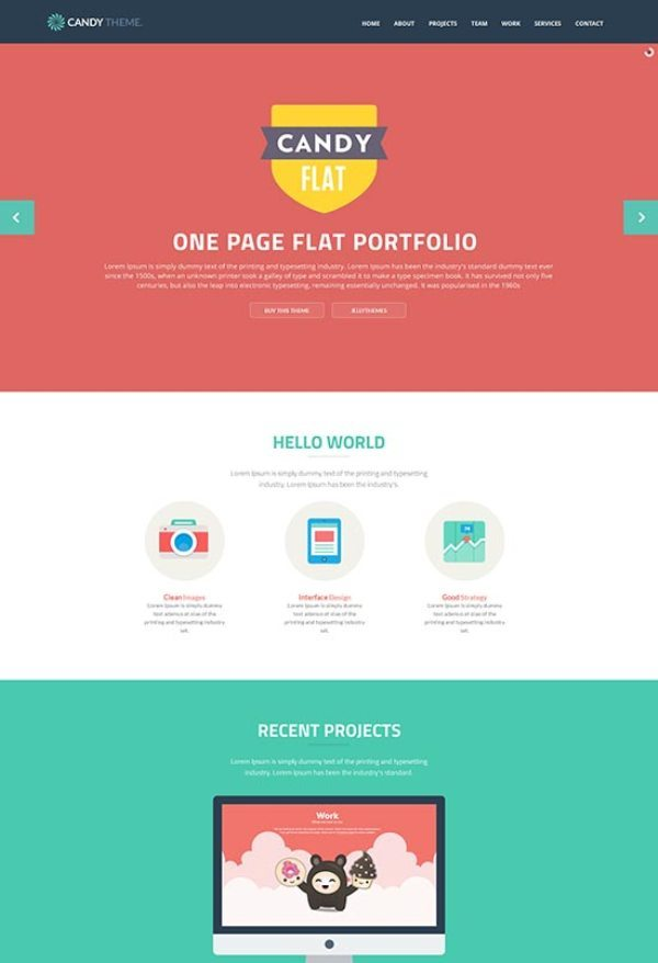 Candy – Flat Responsive HTML5 Template
