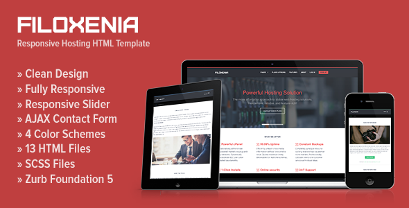 Filoxenia - Responsive Hosting HTML Template