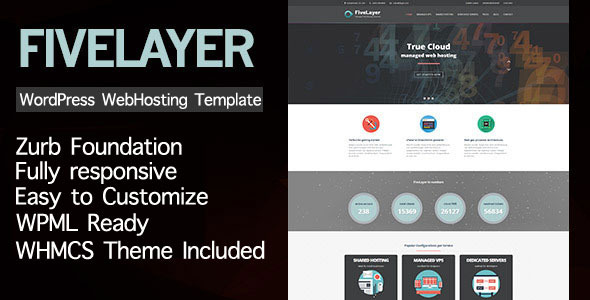 FiveLayer - Web Hosting Responsive WordPress Theme