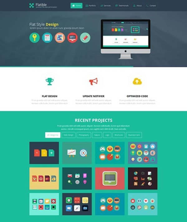 Flatible Flat Design Style Template