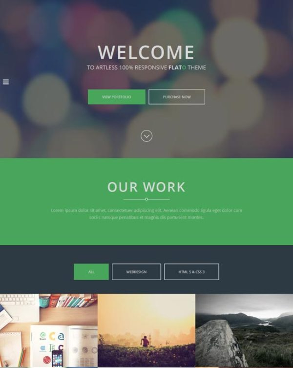 Flato – Parallax One Page HTML Template