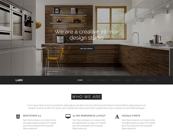 25 Architect Interior Website Design Html Templates Dzineflip