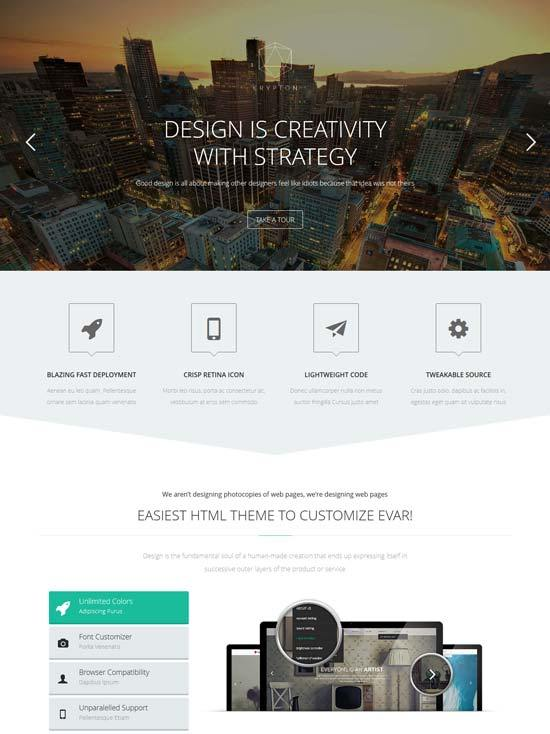 Krypton – Responsive Multipurpose Business HTML Template