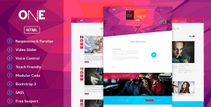 30 HTML Fullscreen Video Website Templates