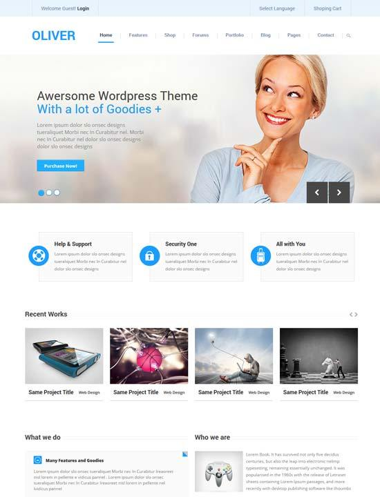22 free premium business website templates dzineflip oliver responsive business bootstrap3 html5 template accmission Choice Image