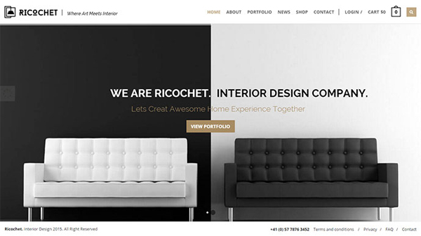 25 architect & interior website design html templates - dzineflip
