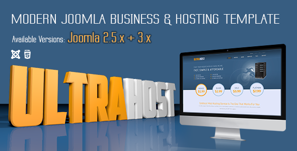 UltraHost - Business & Hosting Joomla Template