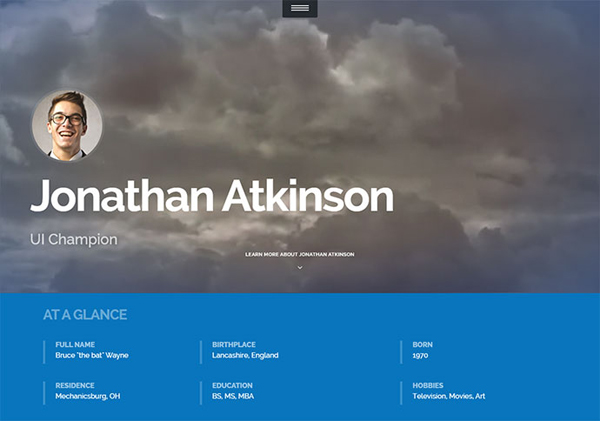 Free Bootstrap Resumecv Template For Developers Default Colour  fatmoon  resume wordpress website template