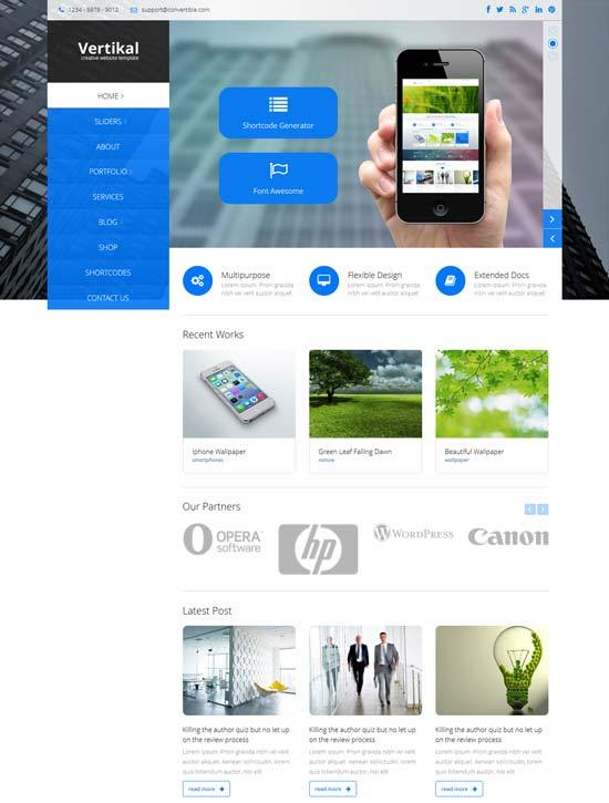 Vertikal – Multipurpose Business HTML5 Template