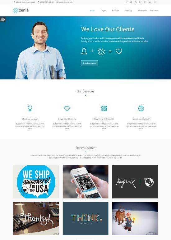 Xenia – Refined HTML 5 - CSS 3 Corporate Template