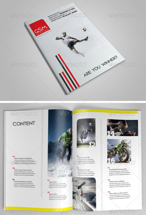 Clean Minimalist Cover Magazine Template