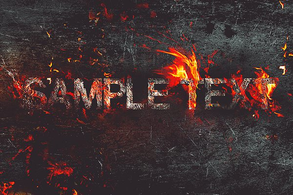 How to Create Fire Burning On Metal Text Effect