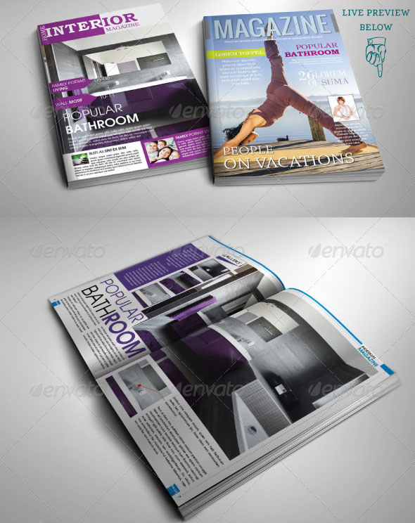 Magazine Templates For Pages 22 Sport Magazine Cover And Layout Templates Dzineflip