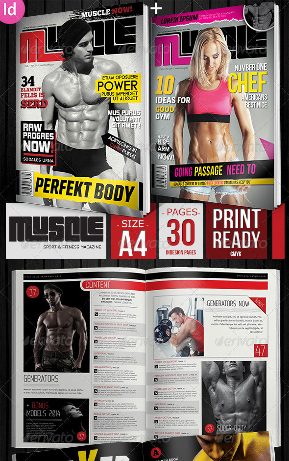 22 sport magazine cover and layout templates