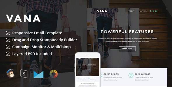 Vana - Responsive Email + StampReady Builder